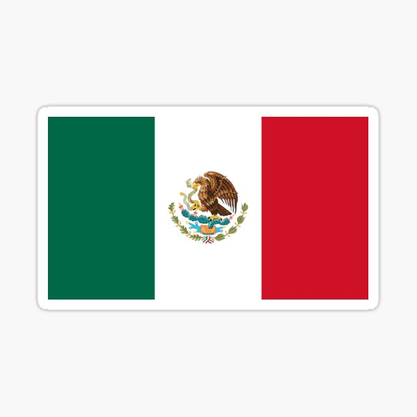 Mexcian Flag - Mexico T-Shirt Duvet Sticker Sticker