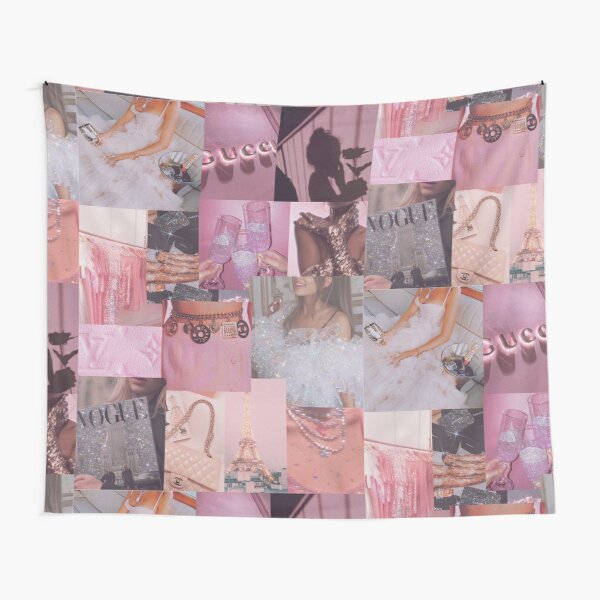 Aesthetic Pink Glitter Collage  Tapestry