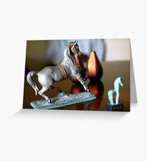 Horse Figurine Greeting Card