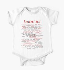 Resident Evil Quotes (dark letters for light colors) One Piece - Short Sleeve