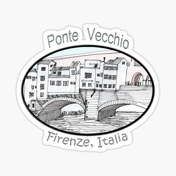 ITALY- Ponte Vecchio, Firenze Sticker