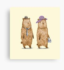 Bear Couple Canvas Print