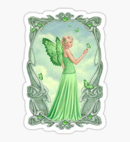 Peridot Birthstone Fairy Sticker
