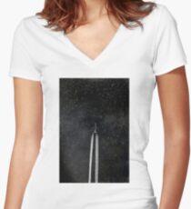 StarFlight Women's Fitted V-Neck T-Shirt