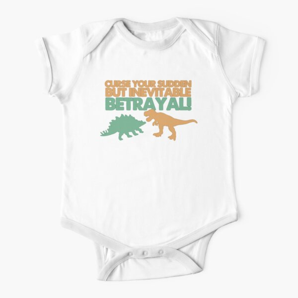 Curse your sudden but inevitable betrayal! Short Sleeve Baby One-Piece