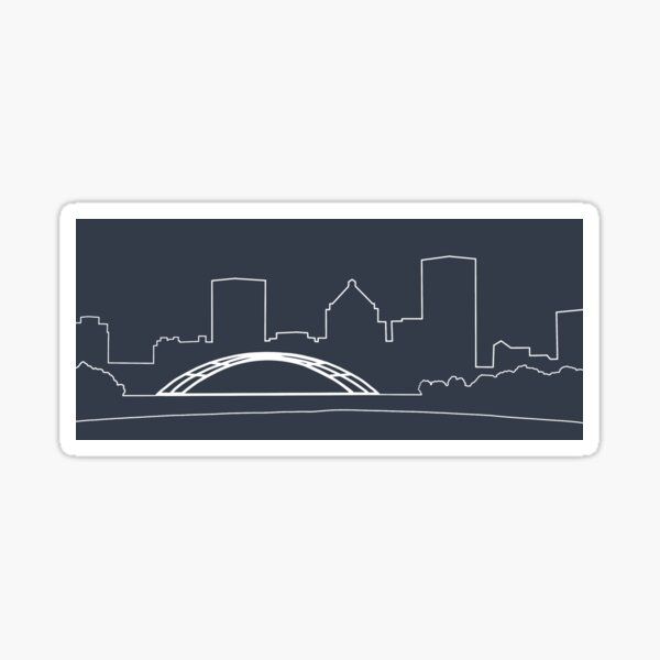 Rochester City Skyline Sticker