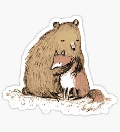 Grizzly Hugs Sticker