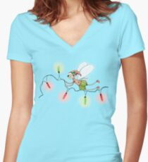 The Christmas Fairy Women's Fitted V-Neck T-Shirt