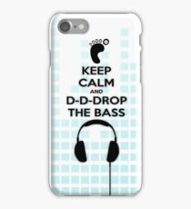 Keep Calm And Drop + EQ Boxes iPhone Case/Skin