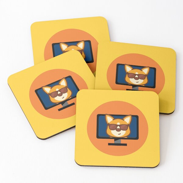 CorgiDev Household Goods Coasters (Set of 4)