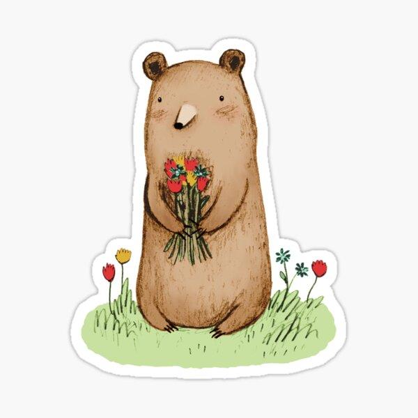 Bear Bouquet Sticker