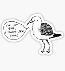 Seagulls Aren't Evil Sticker