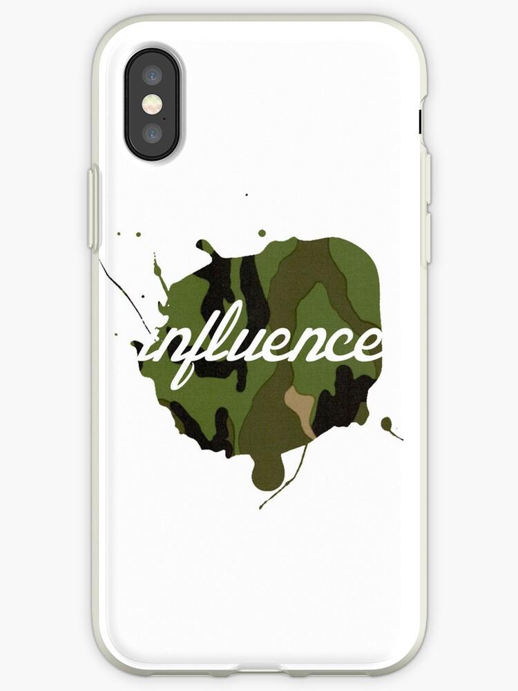 influence camo logo iPhone Case by Josh  Glover