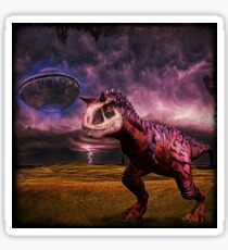 Carnotaurus and UFO Sticker