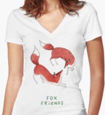 Fox Friends Women's Fitted V-Neck T-Shirt