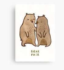 Bear Pair Canvas Print