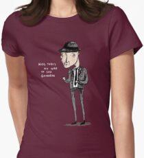 Leonard Cohen Tailliertes T-Shirt für Frauen