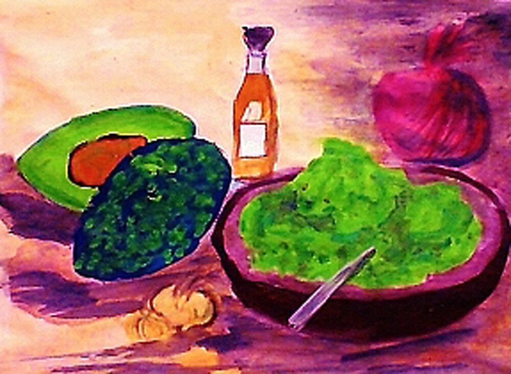 Lets snack, where are the chips??  watercolor by Anna  Lewis, blind artist