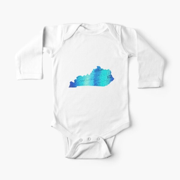 Copy of Stripes of Kentucky Long Sleeve Baby One-Piece