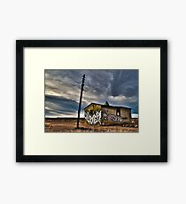 Abandoned on the plains. Framed Print