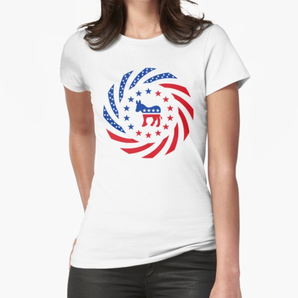 Democratic Murican Patriot Flag Series Fitted T-Shirt