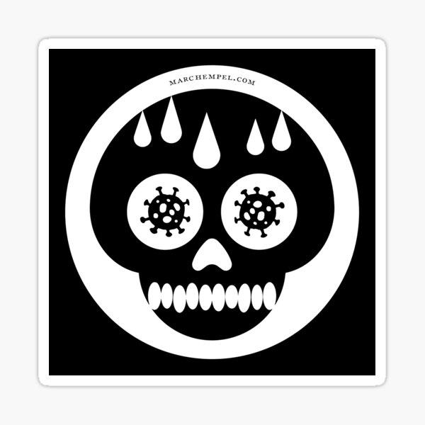 Corona-Cranium (Black & White) Sticker