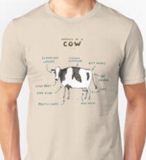 Camiseta unisex Anatomía de una vaca
