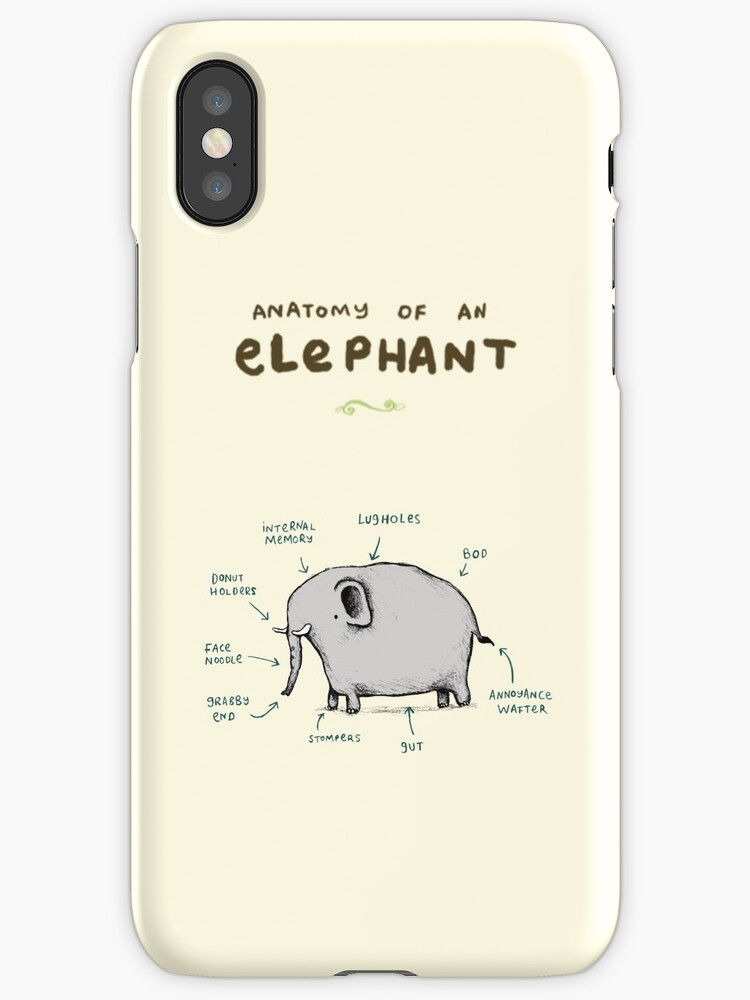Anatomy Of An Elephant Iphone Cases Covers By Sophie Corrigan