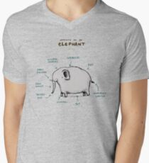 Anatomy of an Elephant Men's V-Neck T-Shirt