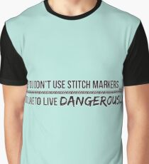 You don't use stitch markers? Graphic T-Shirt