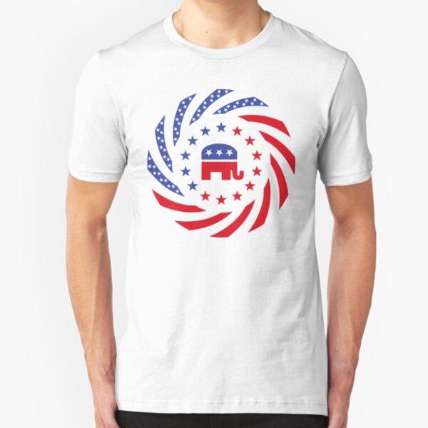 Republican Murican Patriot Flag Series Slim Fit T-Shirt