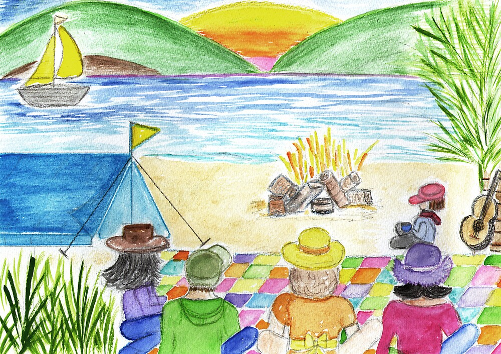 camp fire by Hbeth