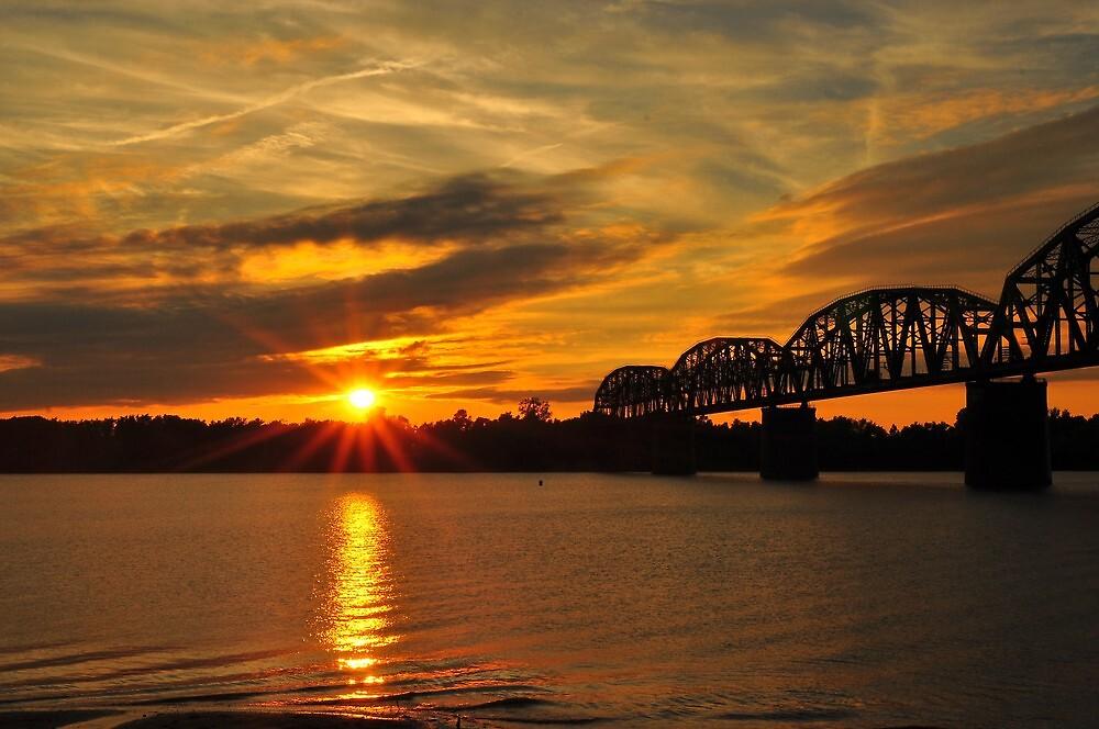 Sunsets Ohio River by kentuckyblueman