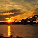 Sunsets Ohio River by kentuckyblueman