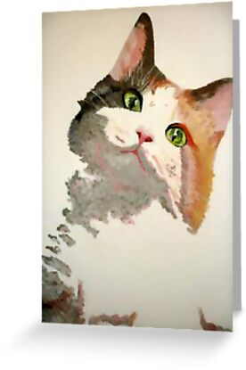 I'm All Ears: A Curious Calico Cat Portrait by taiche