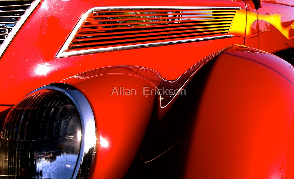 red '37 Ford Coupe... by Allan  Erickson