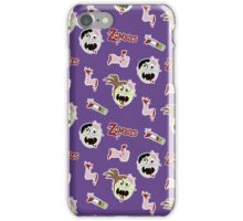 Zombie Cartoon Case - Purple iPhone Case/Skin