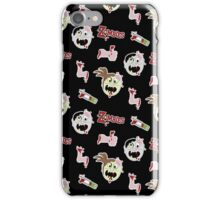 Zombie Cartoon Design - Black Background iPhone Case/Skin