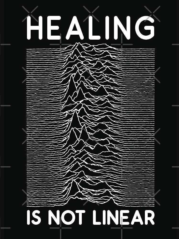 healing is not linear x joy division unknown pleasures by craftordiy