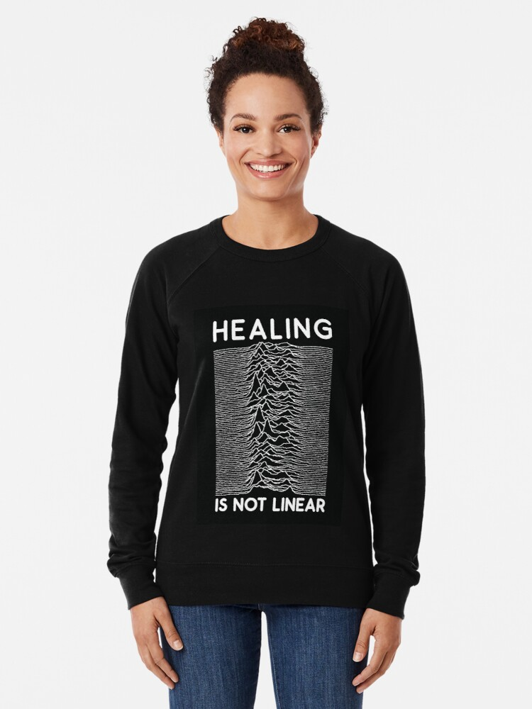 Alternate view of healing is not linear x joy division unknown pleasures Lightweight Sweatshirt
