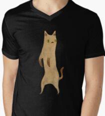 Standing Cat Mens V-Neck T-Shirt