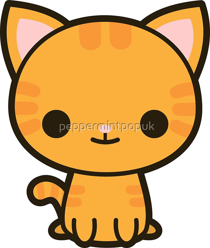 Kawaii ginger cat by peppermintpopuk