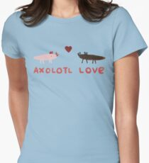 Axolotl Love Women's Fitted T-Shirt