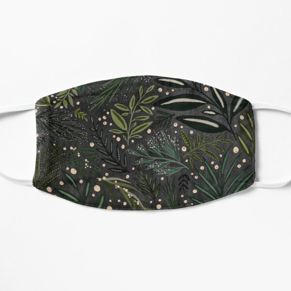 Black and Green Berry Garden Mask