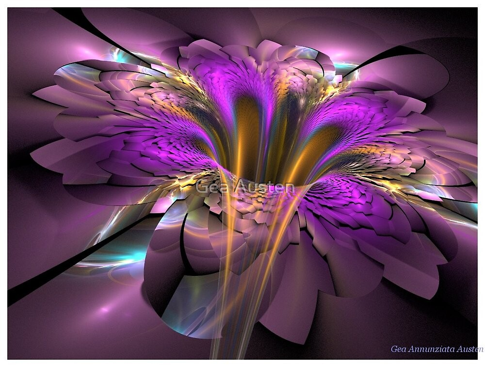 PURPLE NEW FLOWER by Gea Austen