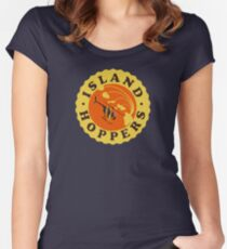 Island Hoppers /yellow Women's Fitted Scoop T-Shirt