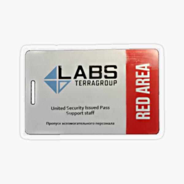 escape from tarkov red area Transparent Sticker