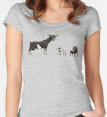 A Doe & Her Kids Women's Fitted Scoop T-Shirt