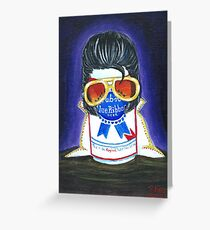 Pabst as The King Greeting Card