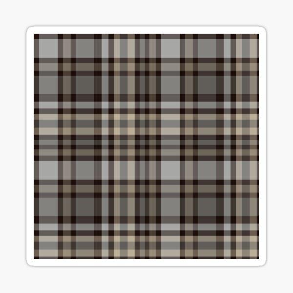 Brown & grey Checked pattern Sticker